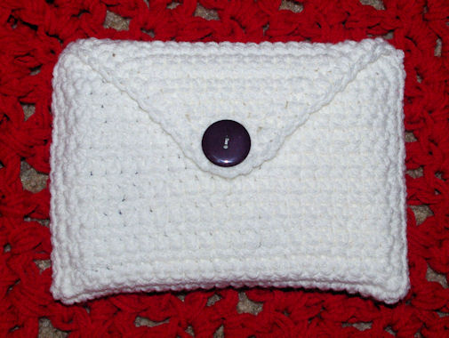 4 x 6 Index Card Holder Free Crochet Pattern