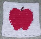 Apple Afghan Square Crochet Pattern