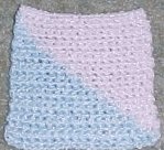 Baby Two Color Square Crochet Pattern
