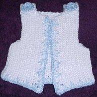 Free Crochet Pattern Newborn Vest : Free Crochet Baby Vest Pattern