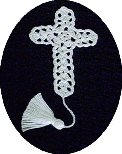 Religious Crochet Pattern,Thread Cross Bible Bookmark, Lace Shell