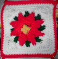 Bonnie's Poinsettia Afghan Crochet Pattern