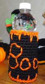Boo Bottle Cozy Crochet Pattern