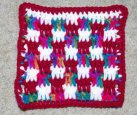 Boucan Stitch Pattern Afghan Square Crochet Pattern