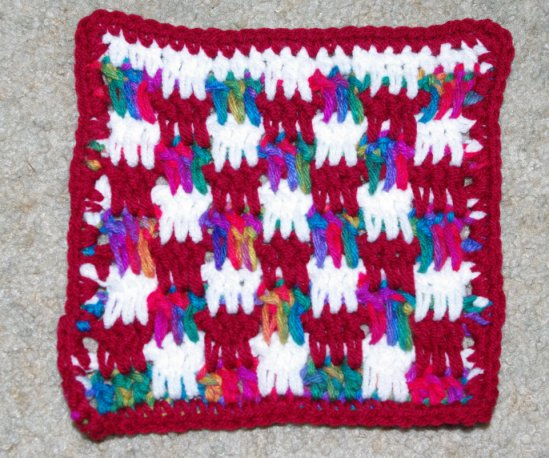 Boucan Stitch Pattern Afghan Square