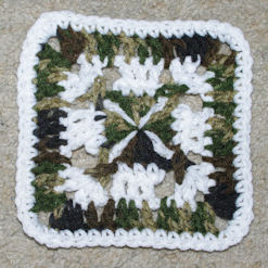 Camo Afghan Square Free Crochet Pattern