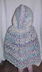 Snowflake Hooded Cape Baby Crochet Pattern BABY TALK Spun Sugar