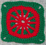 "6"" Christmas Afghan Square Crochet Pattern"