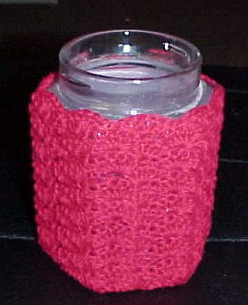 crochet jar cover on Etsy, a global handmade and vintage