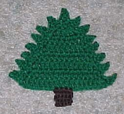 christmas tree coaster crochet pattern