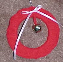 Christmas Wreath Ornament Crochet Pattern Free Crochet Pattern