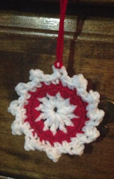 Circle in a Snowflake Ornament