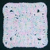 Cotton Candy Afghan Square Crochet Pattern