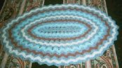 crocheted ripple rug