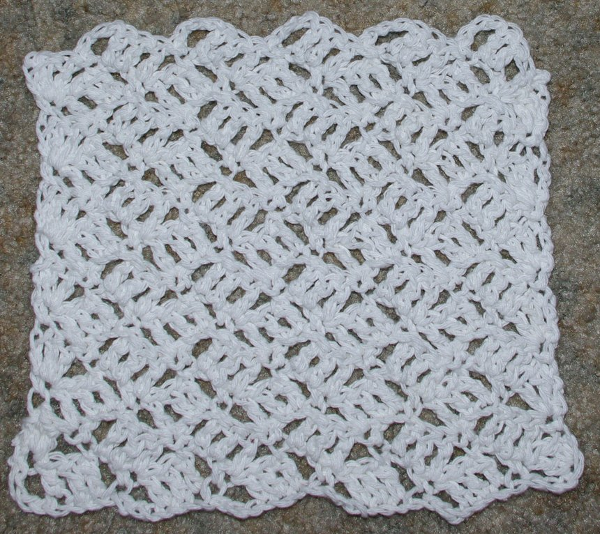 PATTERN – Crocheted Bumpy textured Dishcloth/Washcloth