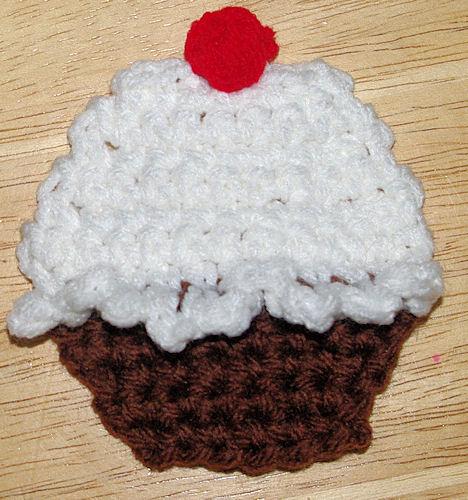Cupcake Applique Crochet Pattern Free Crochet Pattern Courtesy Of
