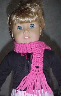 Short Coat and Beret Knitting Patterns for 18-Inch Doll (#103