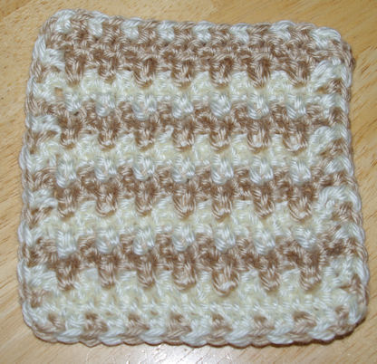 Extended Single Crochet Coaster