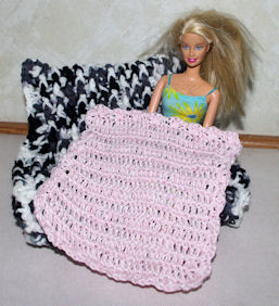 Fashion Doll Afghan Free Crochet Pattern