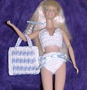 Fashion Doll Bikini and Beach Bag Crochet Patterns