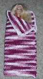 Fashion Doll Sleeping Bag Crochet Pattern
