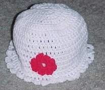 Flower Applique Hat Free Crochet Pattern