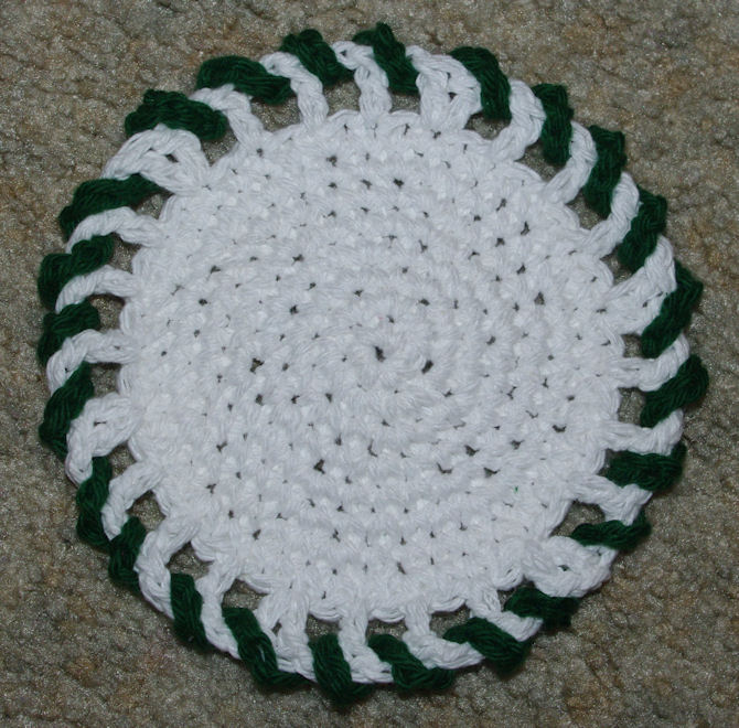 Giant Candy Coaster Free Crochet Pattern