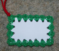 Gift Tag Free Crochet Pattern
