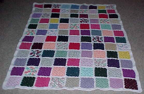 Free Pattern Squares | Knitting & Crochet & Yarn | Purple Kitty