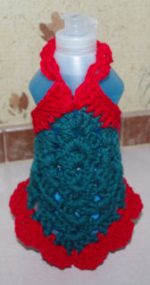 Granny Square Dish Soap Dress Free Crochet Pattern