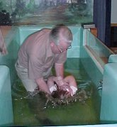 Grandpa Baptizing Haley
