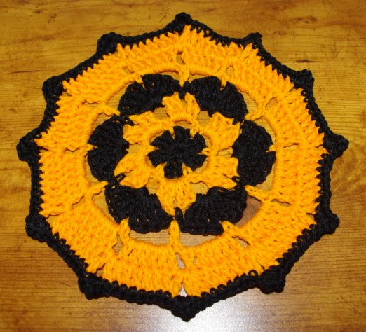 Free Crochet Patterns Halloween : Halloween Doily Crochet Pattern - Available Free at ...