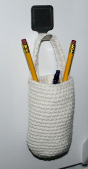 Hanging Pencil Pouch Free Crochet Pattern