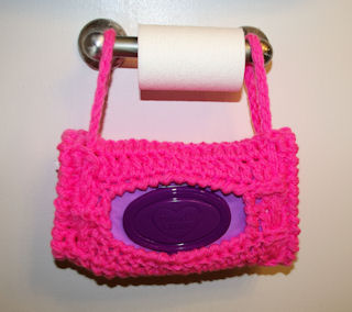 Hanging Wipes Holder Free Crochet Pattern