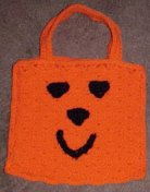 Happy Pumpkin Treat Bag Free Crochet Pattern