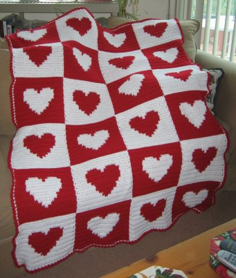Crochet Heart Afghan Pattern Free : RED HEART CROCHET AFGHAN PATTERNS ? Easy Crochet Patterns