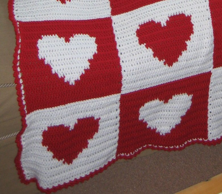heart afghan square