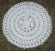 In The Round Dishcloth Crochet Pattern