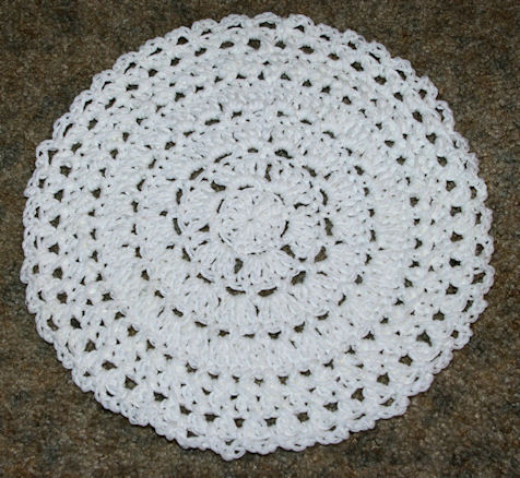 In The Round Dishcloth Crochet Pattern - Free Crochet Pattern Courtesy ...