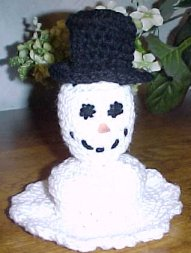 Snowman crafts; snowman earings; fleece sowman pattern