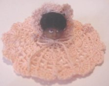 Peaches Doll Doily by Barbara Falcone
