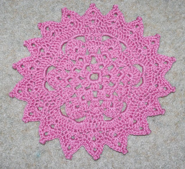 Pattern Of Crochet : Picot Points Doily Crochet Pattern - Free Crochet Pattern Courtesy of ...