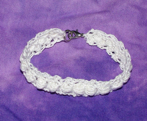 Puff Stitch Bracelet Crochet Pattern Free Crochet Pattern Courtesy