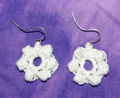 Puff Stitch Earrings Free Crochet Pattern