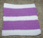 Rail Fence Afghan Square Crochet Pattern