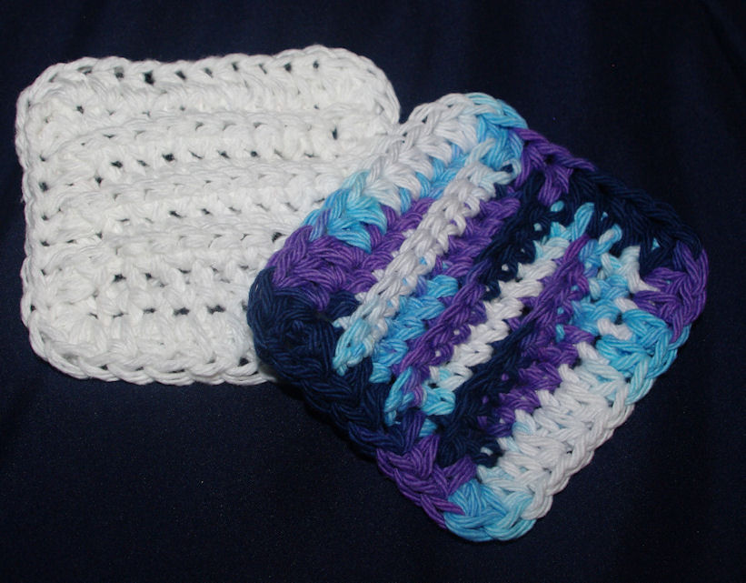 Ribbed Makeup Remover Pad Free Crochet Pattern