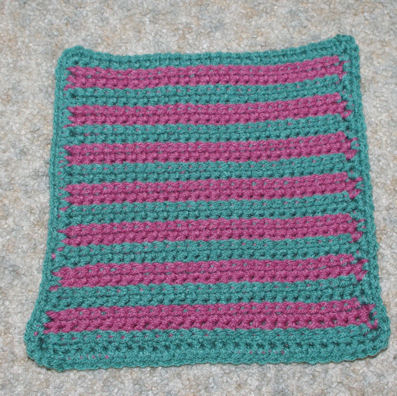 Ridges Afghan Square Crochet Pattern