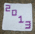 Row Count 2013 Afghan Square Free Crochet Pattern