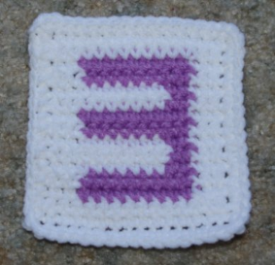 "Row Count ""3"" Coaster Crochet Pattern"