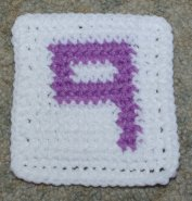 Row Count 9 Crochet Coaster Pattern
